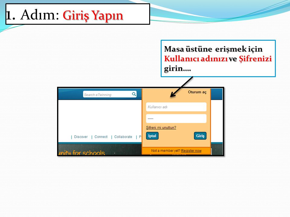 Bu kullanıcı adını ve şifreyi değiştirmeniz mümkündür Sistem otomatik olarak öğrenciniz için bir kullanıcı adı ve şifre önerecektir.