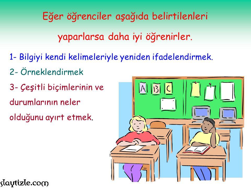 DÜŞÜNMEYİ ÖĞRETMEK Düşünmeyi bilmek, iyi bir eğitimin öğrencilere kazandırdığı bir beceri olmalıdır.