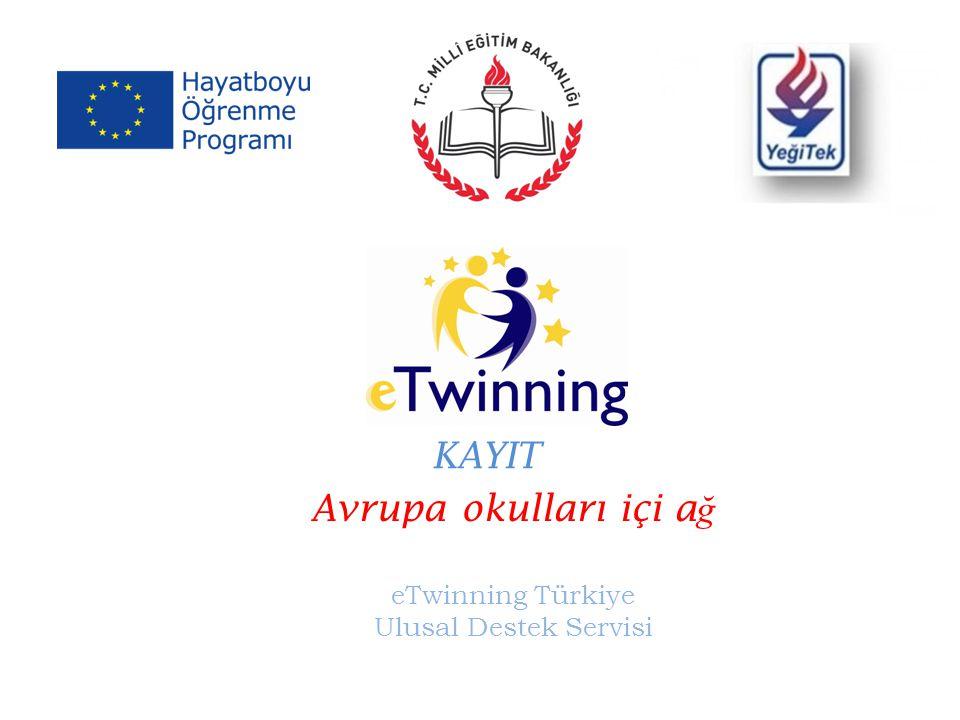 Avrupa okulları içi a ğ eTwinning Türkiye Ulusal Destek Servisi KAYIT