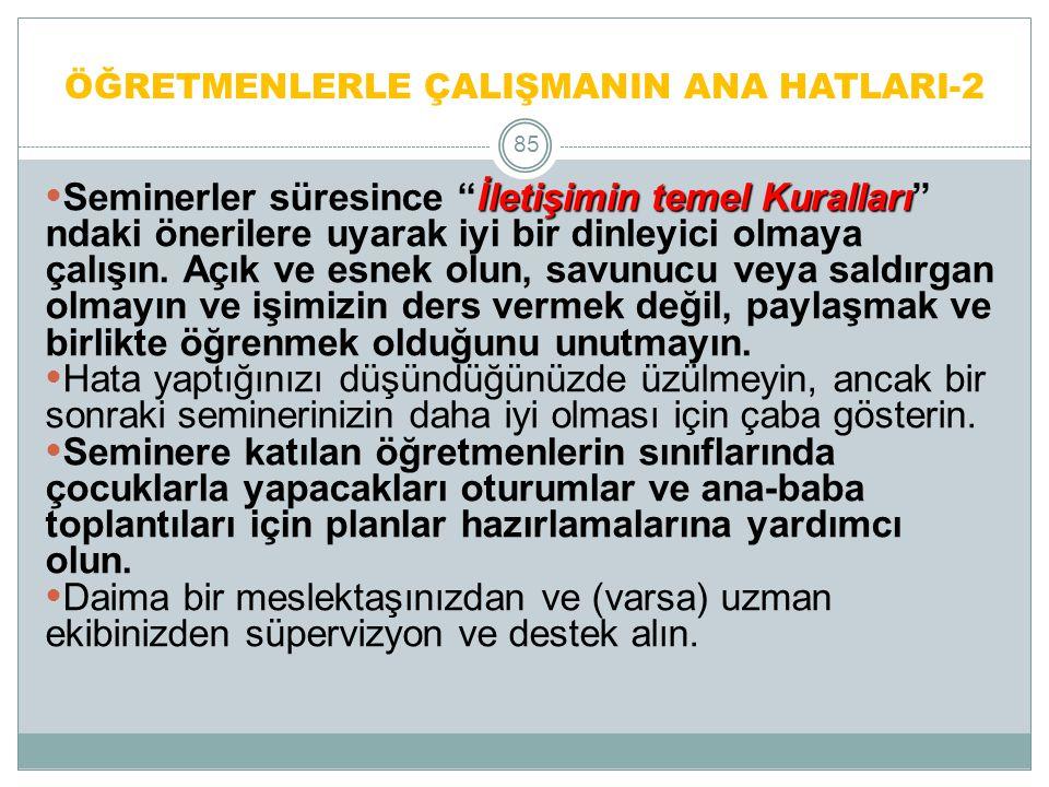 ÖĞRETMENLERİN KATKISI 86 1.