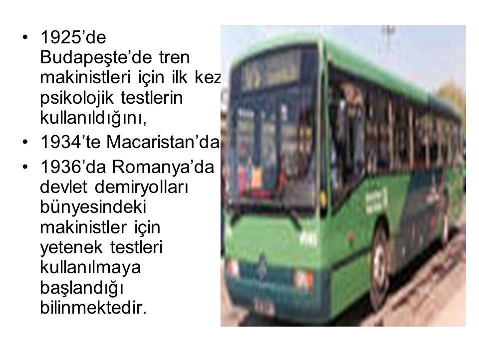 Türkiye'de Psikoteknik Değerlendirme sürecinde ölçülen boyutlar ZİHİNSEL YETENEKLER Dikkat (konsantrasyon kapasitesi) Anlama ve değerlendirme Hız ve mesafe tahmini Periferal algı (çevresel görüş) Görsel yapılandırma