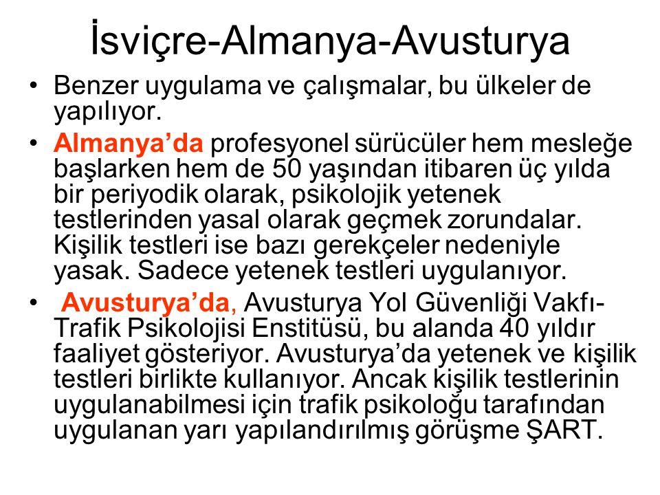 Türkiye'de Psikoteknik Değerlendirme