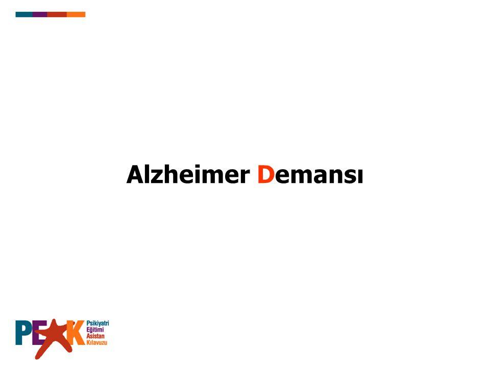 Alzheimer Demansı