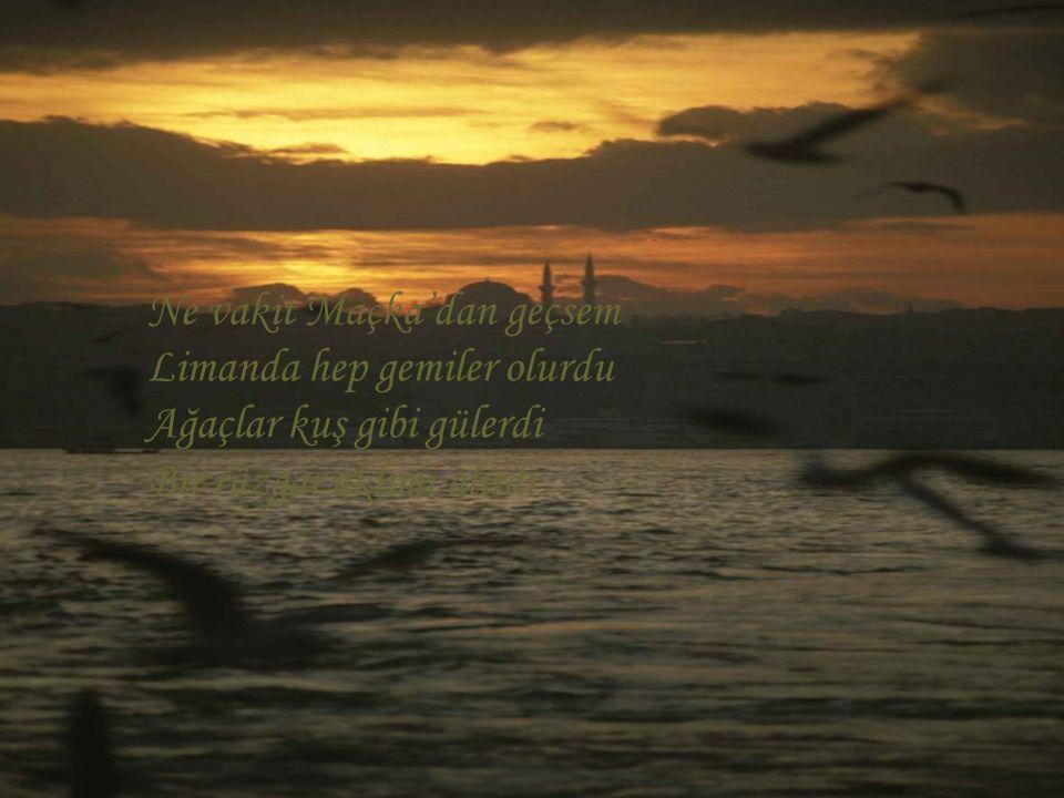 Ne vakit Maçka'dan geçsem Limanda hep gemiler olurdu Ağaçlar kuş gibi gülerdi Bir rüzgar aklımı alırdı