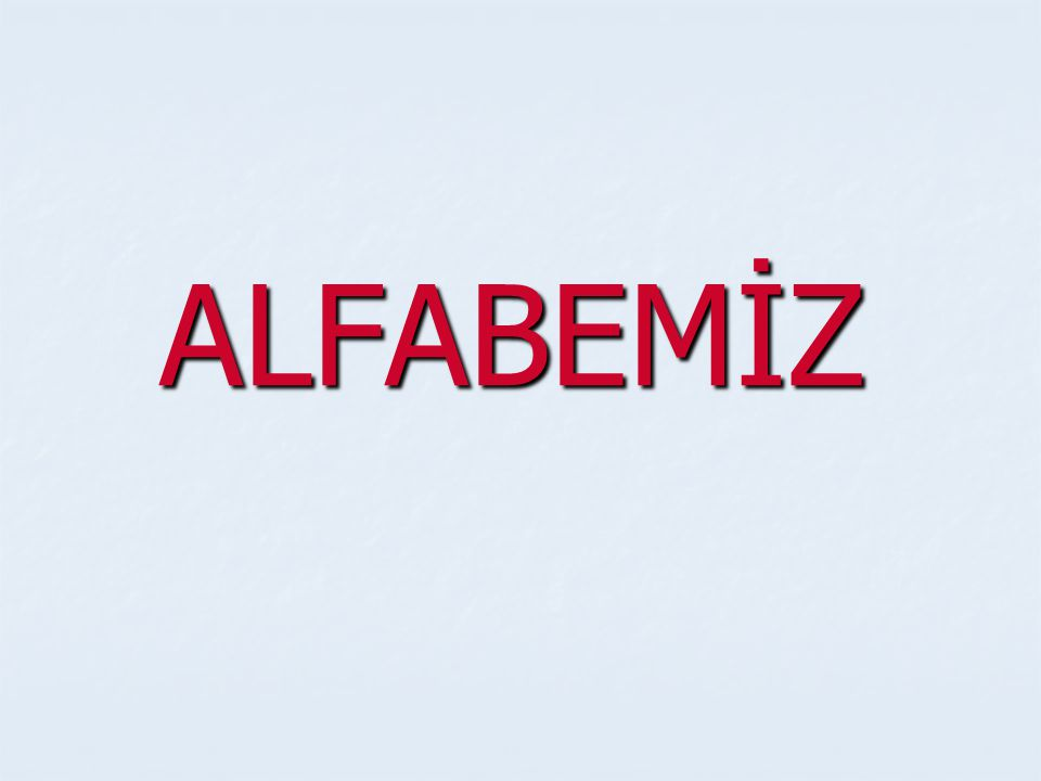 ALFABEMİZ