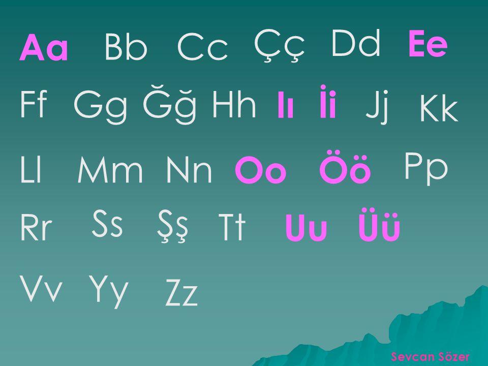 Alfabemiz 29 harften oluşmaktadır. Bazı harfler söylenirken ses yolundan kolayca çıkar.Bunlara sesli (ünlü) harf denir. Türk alfabesinde sekiz ü nlü h