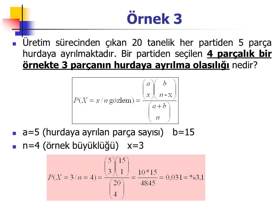 Olasılıklar P(Q i )P(X i / Q i )P(X i ∩ Q i )P(Q i / X i ) 0,20 0,80 0,95 0,10 0,19 0,08 0,70=P(Q 1 /X 1 ) 0,30=P(Q 2 /X 1 ) Q 1 : Deprem Olması P(Q 1 )=0,20 Q 2 : Deprem Olmaması P(Q 2 )=0,80 X 1 : Jeolojik Test Olumsuz P(X 1 )=.