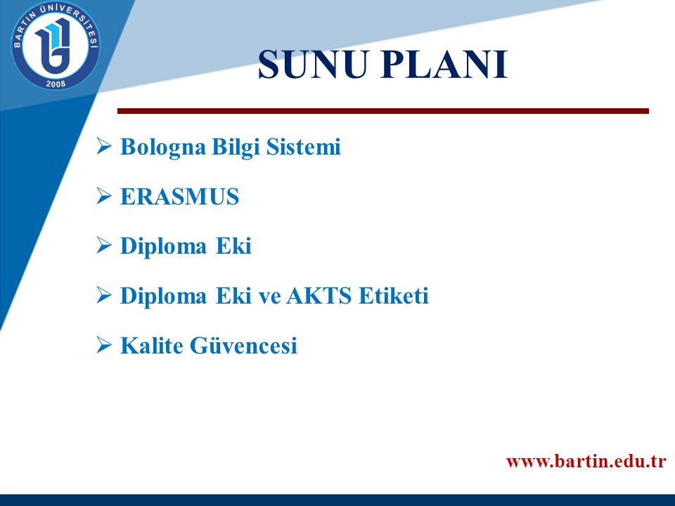 BOLOGNA SÜRECİNDE NEREDEYİZ.2008 20122015-16 201.