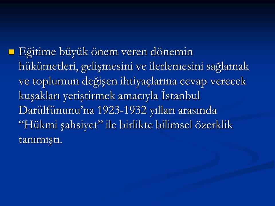 1932 yılında bir reform önerisi hazırlamak amacıyla, Türk Hükümeti, Cenevre Üniversitesi'nden Prof.