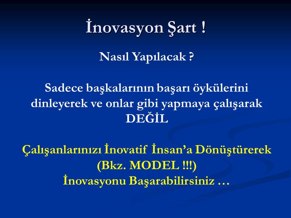İnovasyon Şart . Nasıl Yapılacak .