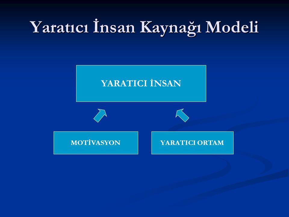 Yaratıcı İnsan Kaynağı Modeli YARATICI İNSAN MOTİVASYONYARATICI ORTAM