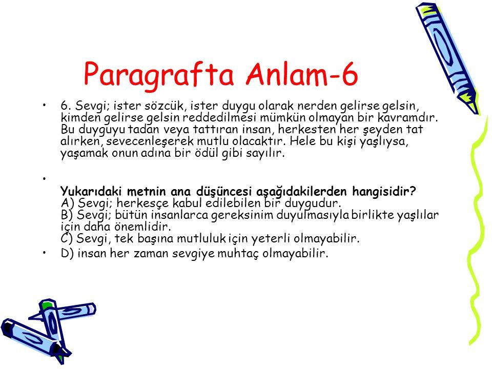 Paragrafta Anlam-6 6.