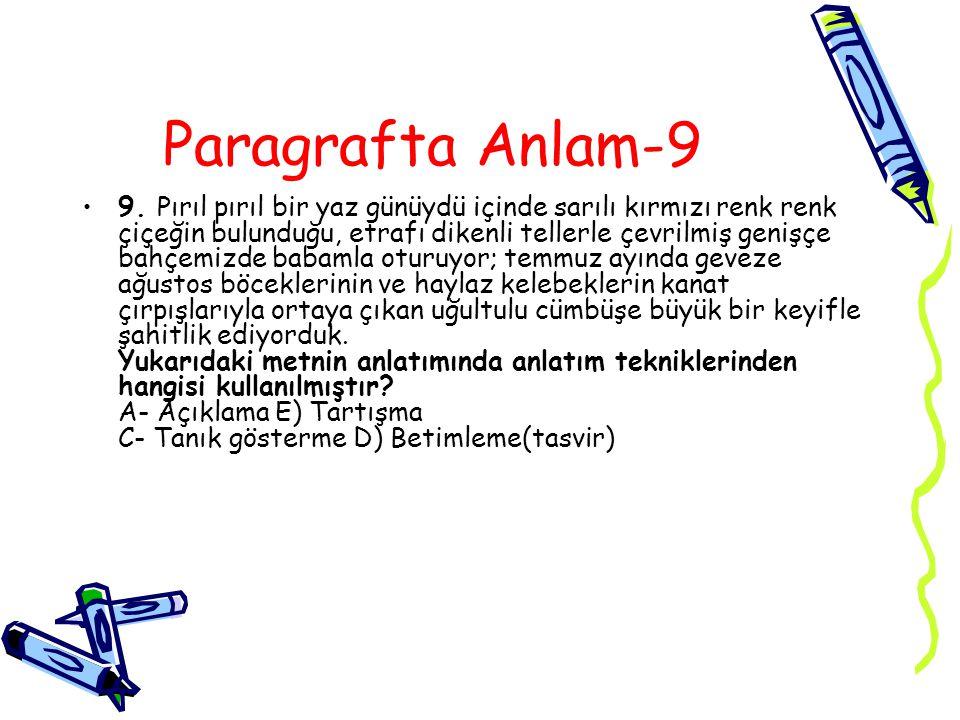 Paragrafta Anlam-9 9.