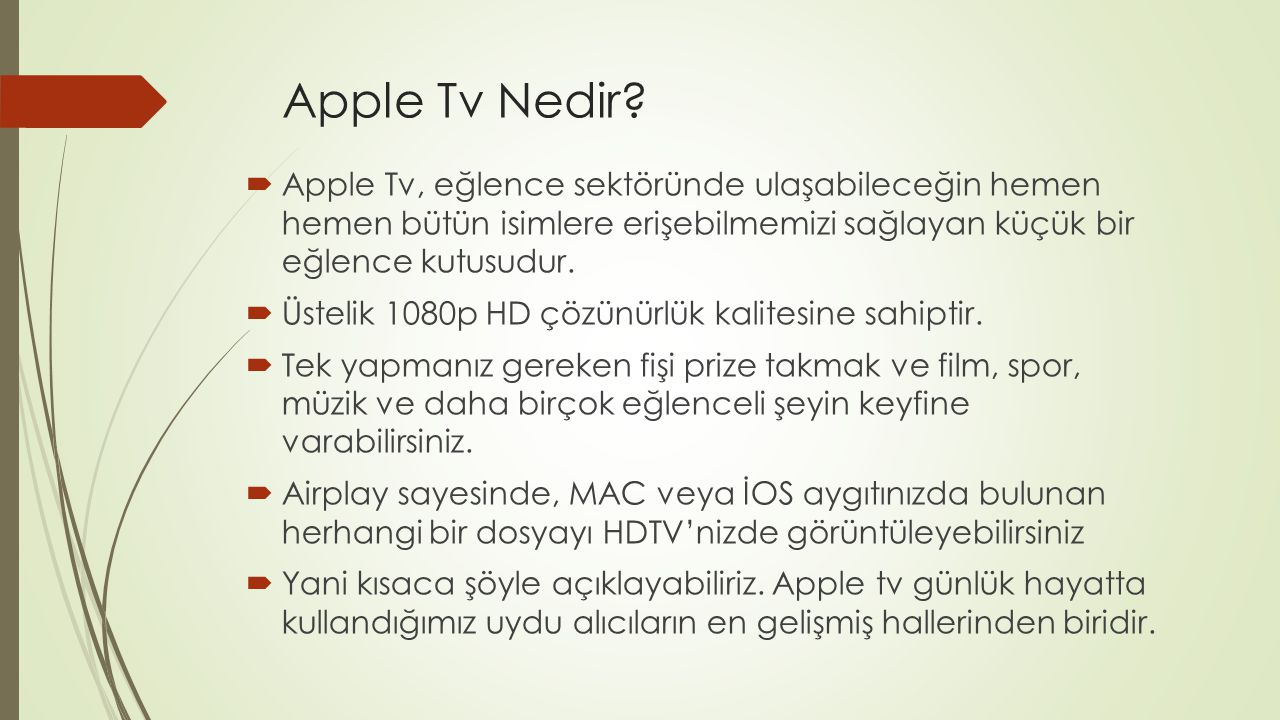 Apple Tv Nedir.