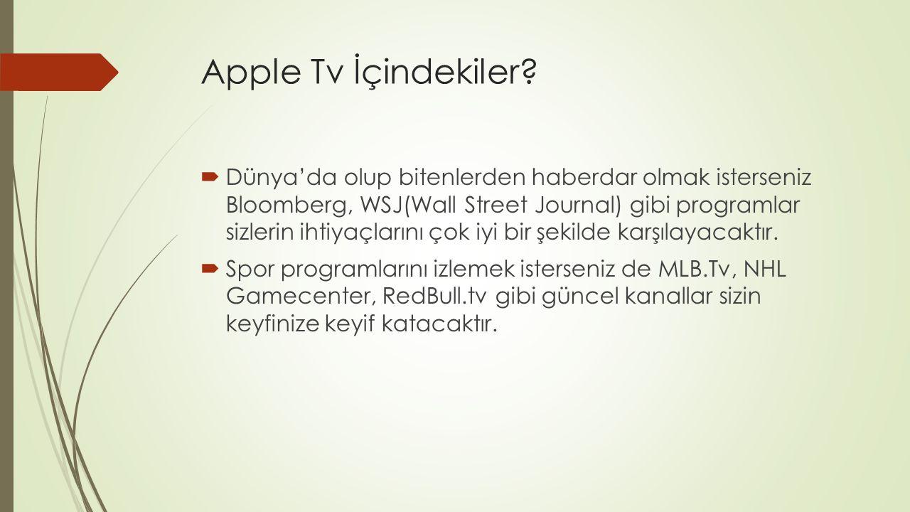 Apple Tv İçindekiler.