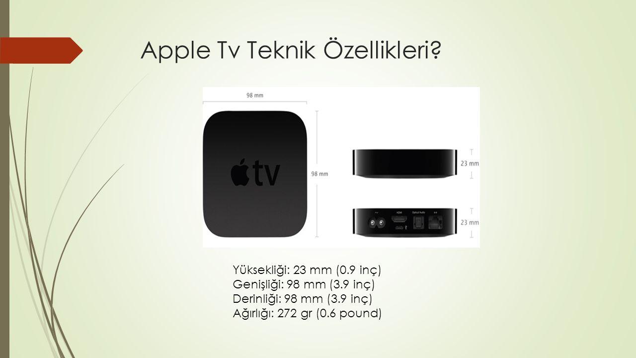 Apple Tv Teknik Özellikler .İşlemci Apple tek çekirdekli A5 işlemcidir.