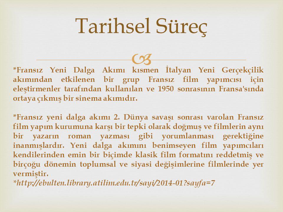  Türk Sinamasında Yeni Dalga Türk Sinemasında Reha Erdem, Derviş Zaim, N.
