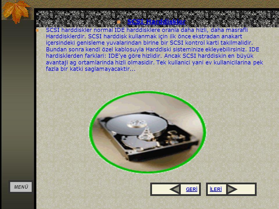 SABIT DISK Yüksek kapasitede bilgi saklayan kayıt ortamlarıdır.