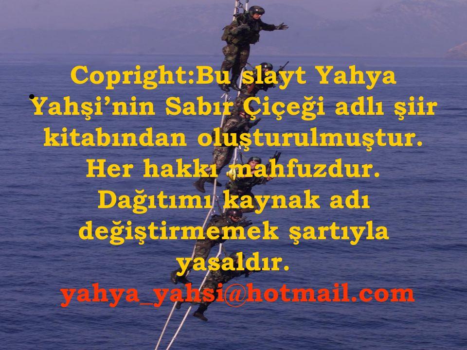 Copright:Bu slayt Yahya Yahşi'nin Sabır Çiçeği adlı şiir kitabından oluşturulmuştur.