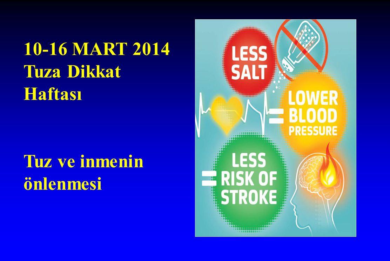 10-16 MART 2014 Tuza Dikkat Haftası Tuz ve inmenin önlenmesi
