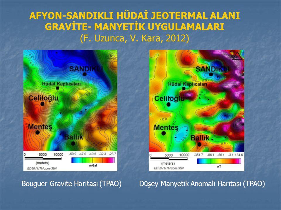 AFYON-SANDIKLI HÜDAİ JEOTERMAL ALANI GRAVİTE- MANYETİK UYGULAMALARI (F. Uzunca, V. Kara, 2012) Bouguer Gravite Haritası (TPAO) Düşey Manyetik Anomali
