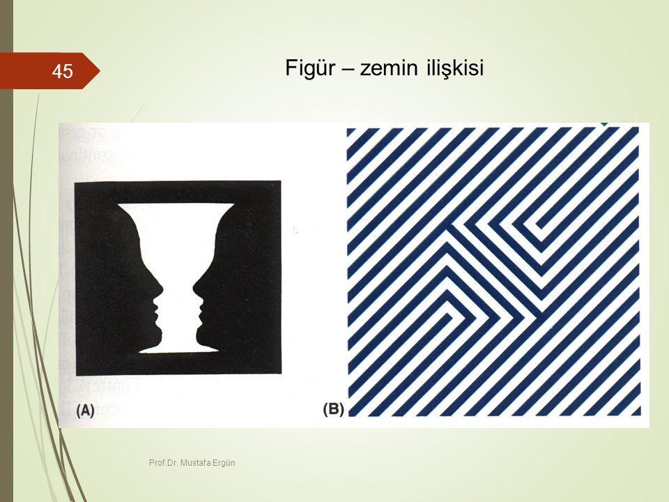 Prof.Dr. Mustafa Ergün 45 Figür – zemin ilişkisi