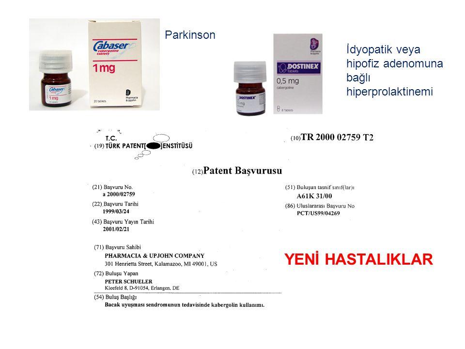 İdyopatik veya hipofiz adenomuna bağlı hiperprolaktinemi Parkinson YENİ HASTALIKLAR