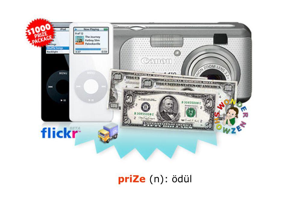 priZe (n): ödül