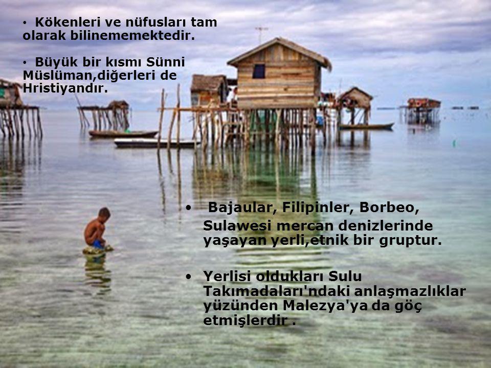 Bajaular, Filipinler, Borbeo, Sulawesi mercan denizlerinde yaşayan yerli,etnik bir gruptur.