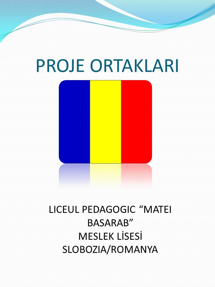 "PROJE ORTAKLARI LICEUL PEDAGOGIC ""MATEI BASARAB"" MESLEK LİSESİ SLOBOZIA/ROMANYA"