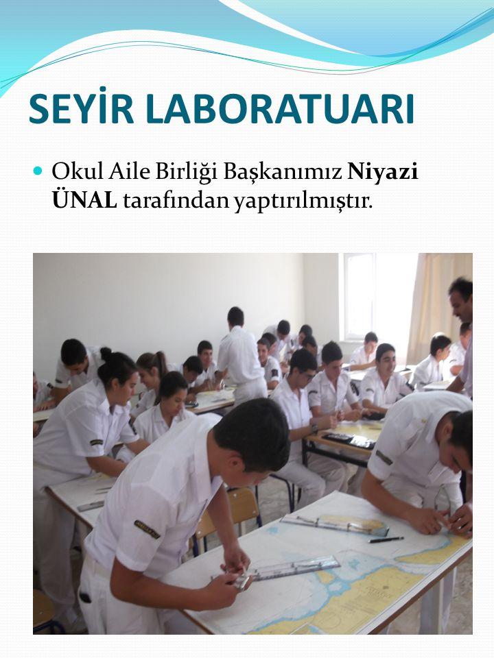 SEYİR LABORATUARI Okul Aile Birliği Başkanımız Niyazi ÜNAL tarafından yaptırılmıştır.