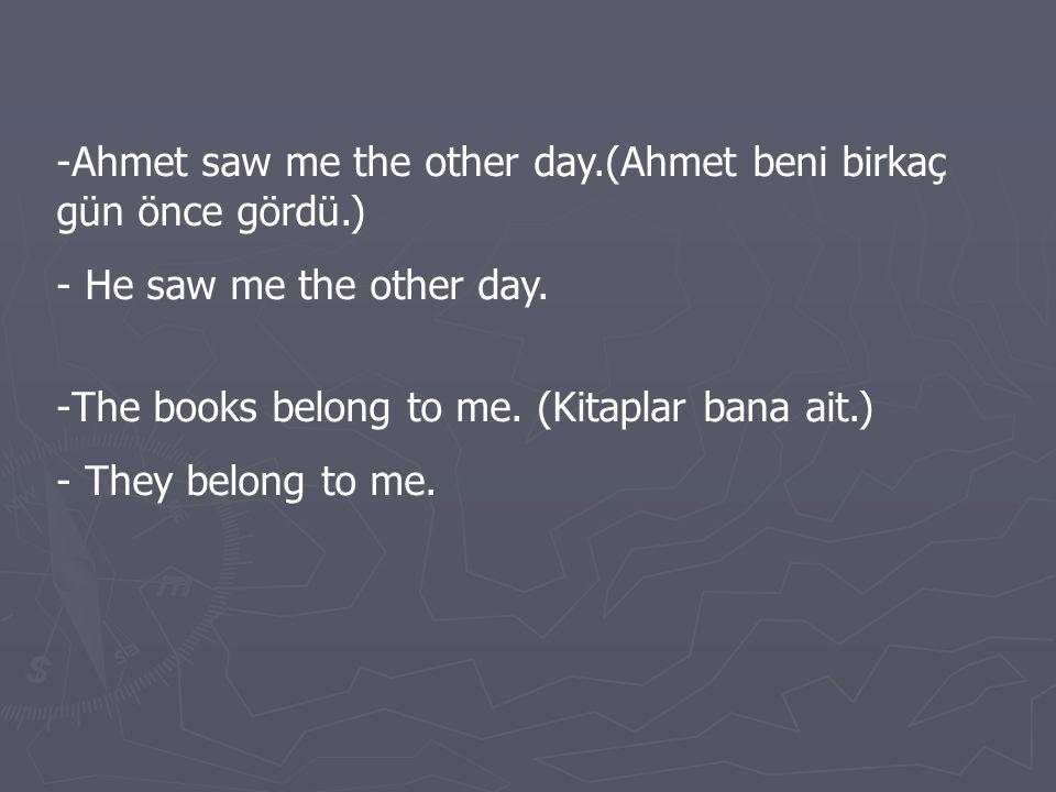 E- İnterrogative Pronouns (= soru zamirleri): Bu zamirler WHO, WHOM, WHOSE, WHICH, WHAT olup, her zaman fiillerden önce soru oluşturmada kullanılır.