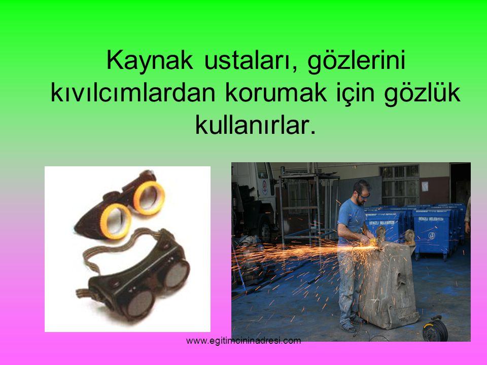 Bazı deneylerde özel gözlükler kullanmak gerekebilir. www.egitimcininadresi.com