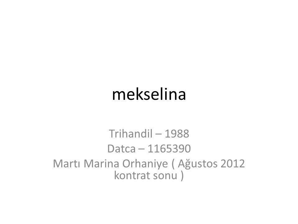 mekselina Trihandil – 1988 Datca – 1165390 Martı Marina Orhaniye ( Ağustos 2012 kontrat sonu )