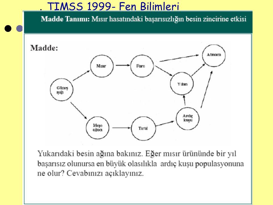 Seher ULUTAŞ 47 TIMSS 1999- Fen Bilimleri