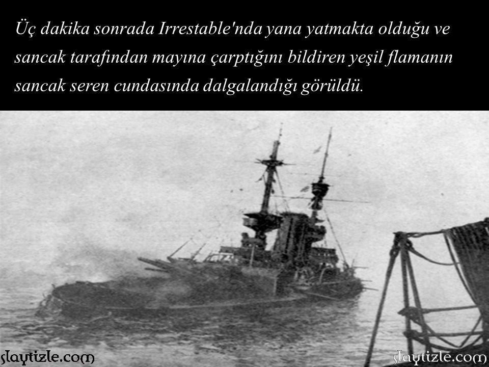 Önce Bouvet 639 kişilik mürettebatı ile denizin derinliklerine gömüldü. Bu andan itibaren her şey ters gitmeye başlamıştı. Bouvet'in battığı yerin yak