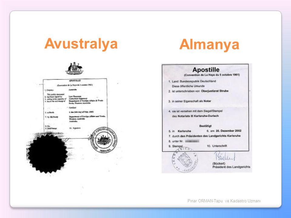 Avustralya Pınar ORMAN-Tapu ve Kadastro Uzmanı Almanya