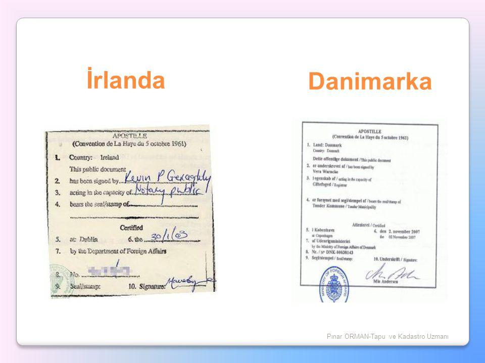 İrlanda Pınar ORMAN-Tapu ve Kadastro Uzmanı Danimarka