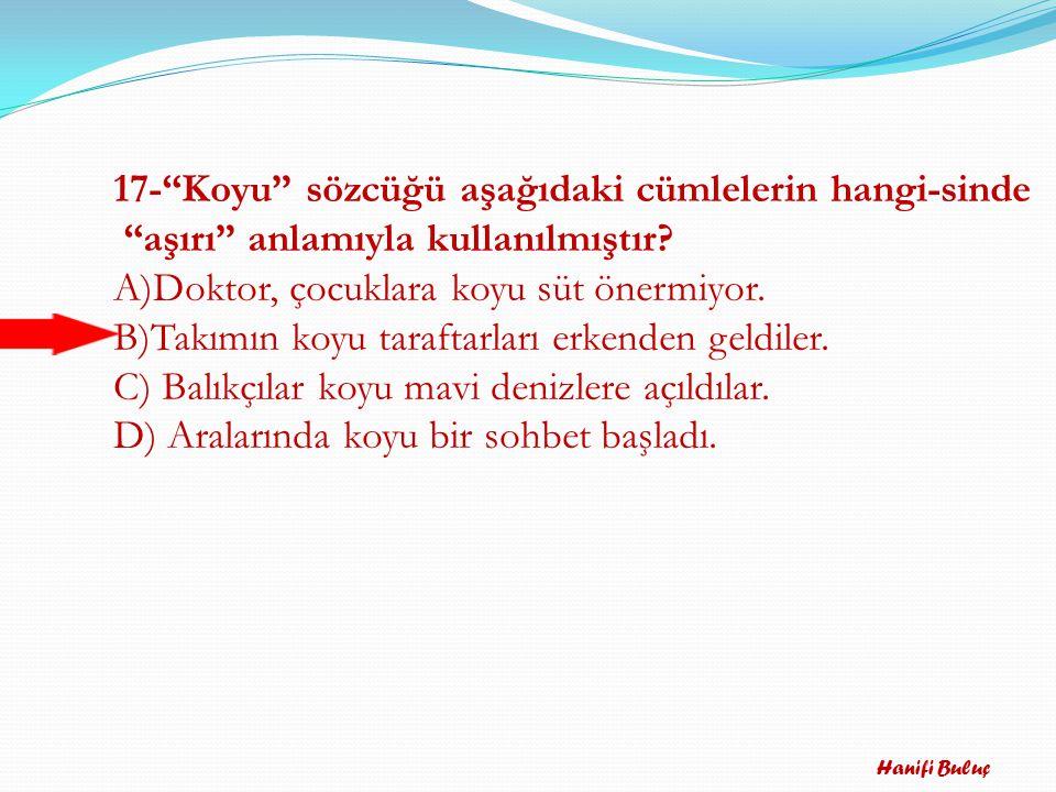 Hanifi Buluç 16-Cumhuriyeti yükselterek devam ettirmek her Türk gencinin kutsal görevidir.