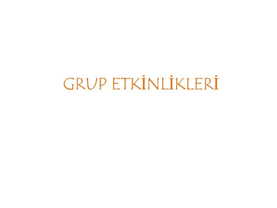 GRUP ETKİNLİKLERİ