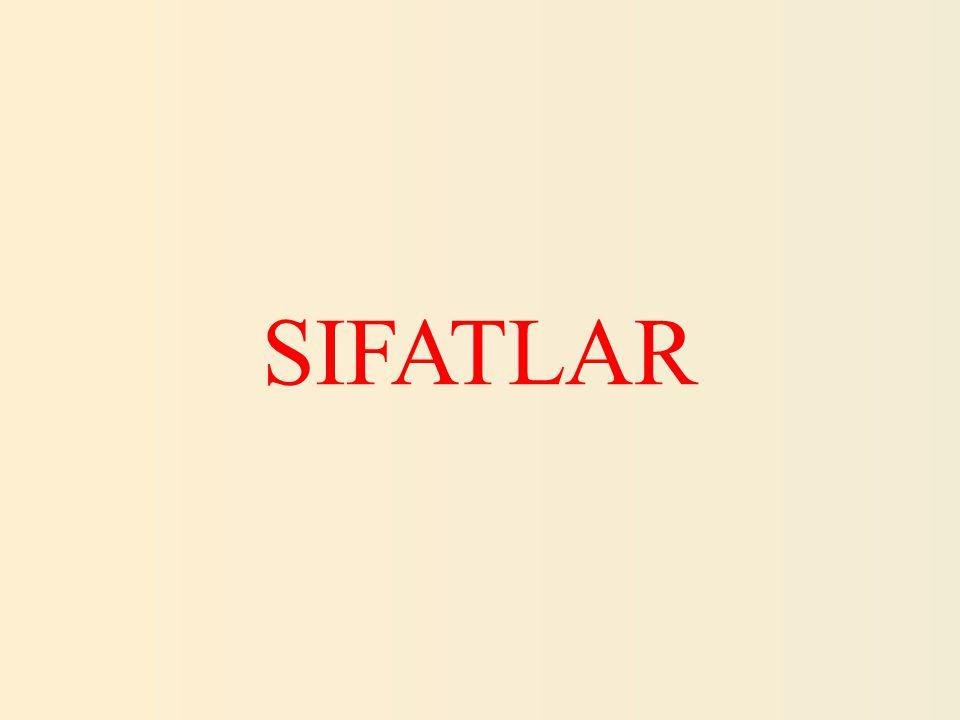 SIFATLAR 26.Aşağıdaki cümlelerin hangisinde işaret sıfatı kullanılmıştır.