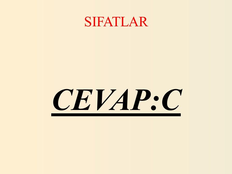 SIFATLAR 5.Aşağıdaki bir sözcüğüyle yapılmış sıfatların hangisi diğerlerinden farklıdır.