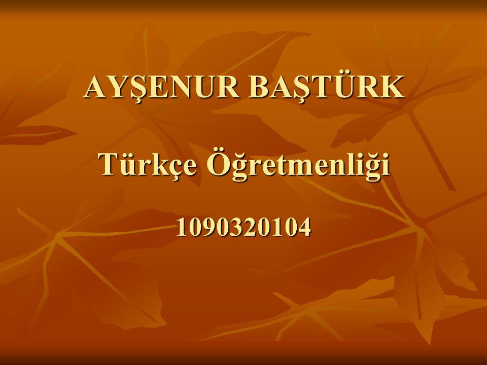 AYŞENUR BAŞTÜRK Türkçe Öğretmenliği 1090320104