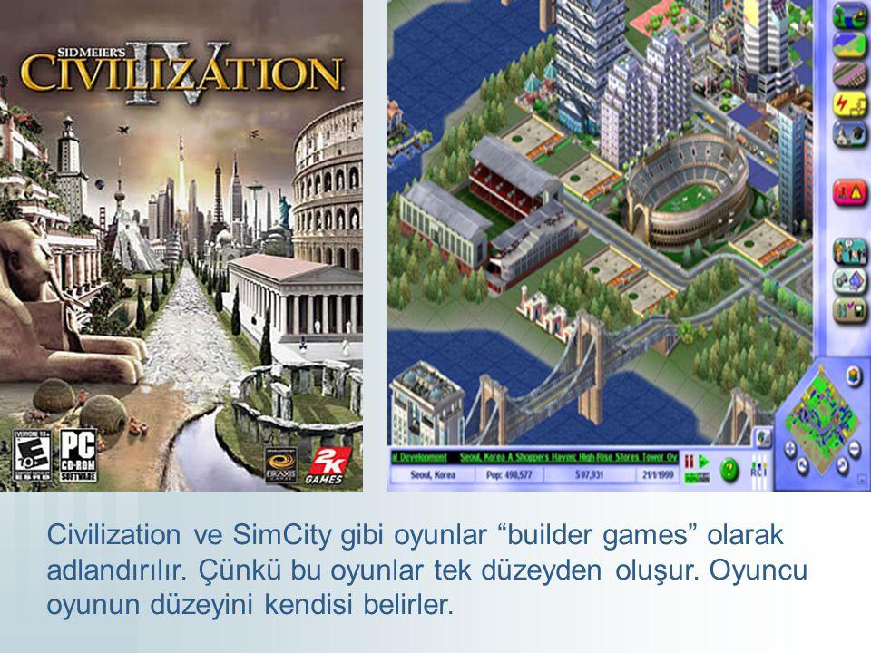Farklı Oyunlardaki Düzeyler Bu bölüm öncelikle oyundaki önemli etkilere sahip olan ön düzeyler kullanan oyunlar ile ilgilidir.