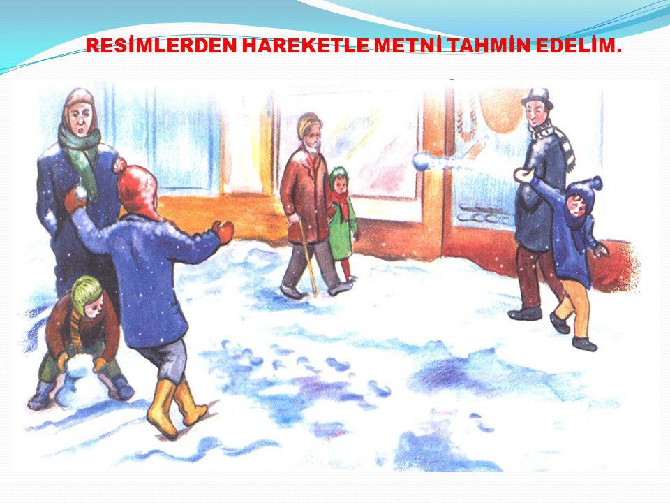 RESİMLERDEN HAREKETLE METNİ TAHMİN EDELİM.