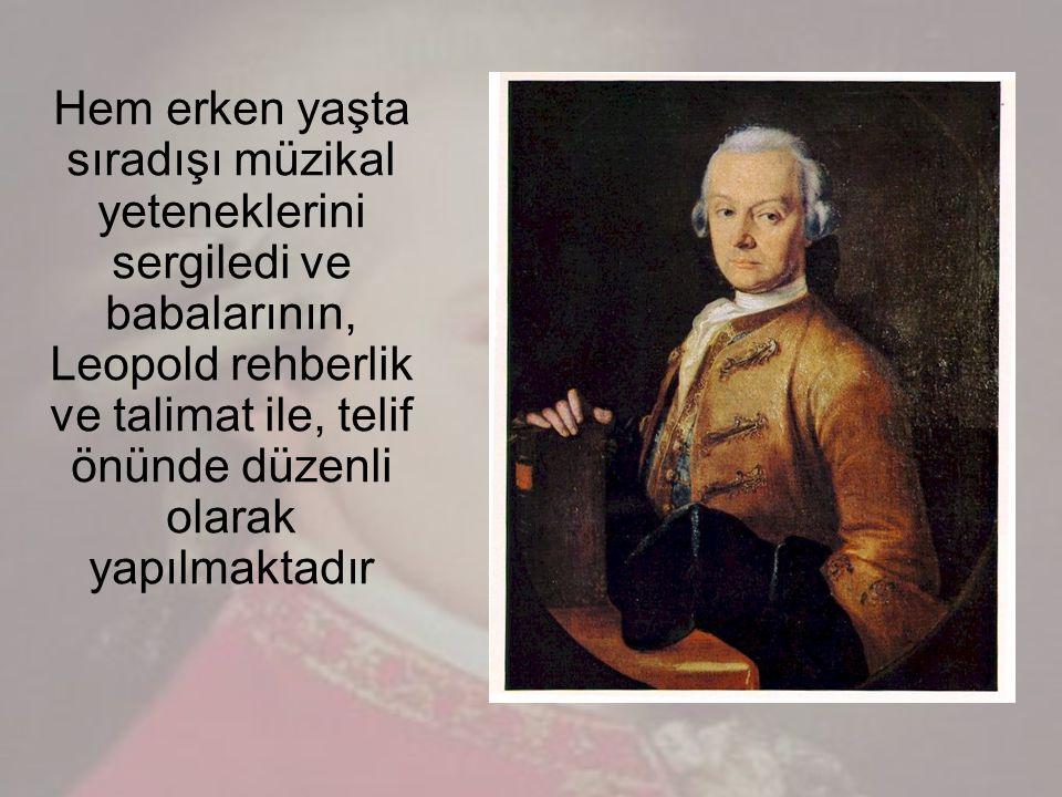 Mozart ın yaşamı bir diğer önemli güç annesi Anna Maria idi.