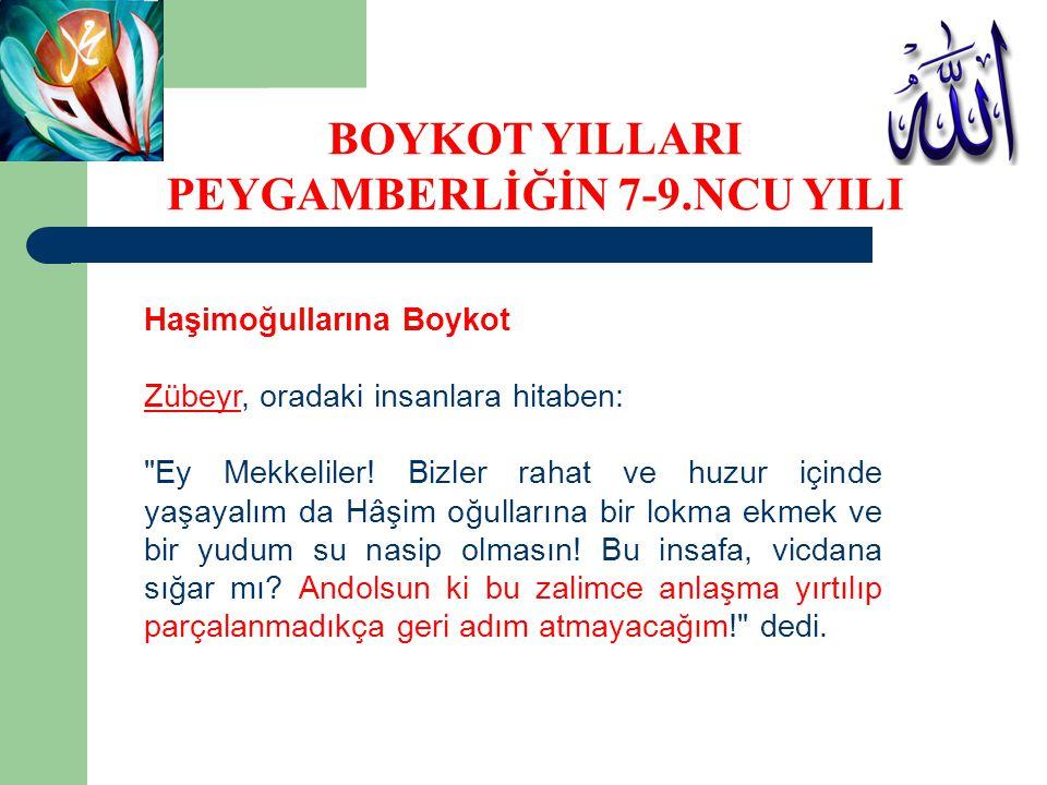 Haşimoğullarına Boykot Zübeyr, oradaki insanlara hitaben: