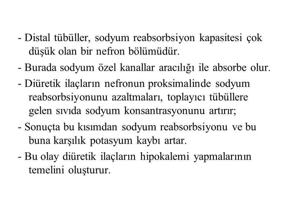 3) Kıvrım Diüretikleri FUROSEMİD - Bir organik asiddir.