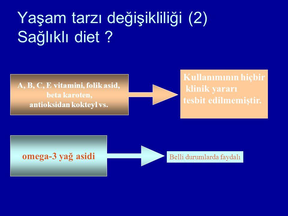 Yaşam tarzı değişikliliği (2) Sağlıklı diet .