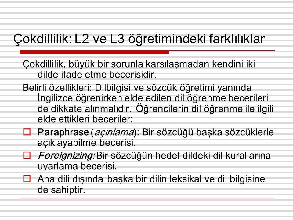 Niçin Türkçe öğrenirken İngilizceden yararlanılmalı.